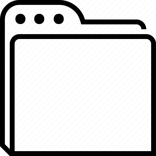 clean, data, empty, folder, portfolio, storage, store icon