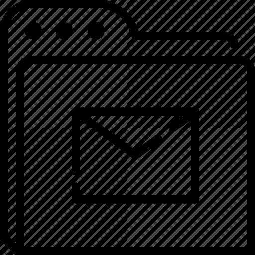 e-mail, folder, mail, receive icon