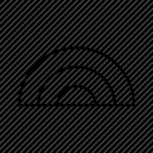 atmosphere, atmospheric, condition, forecast, rainbow, weather icon