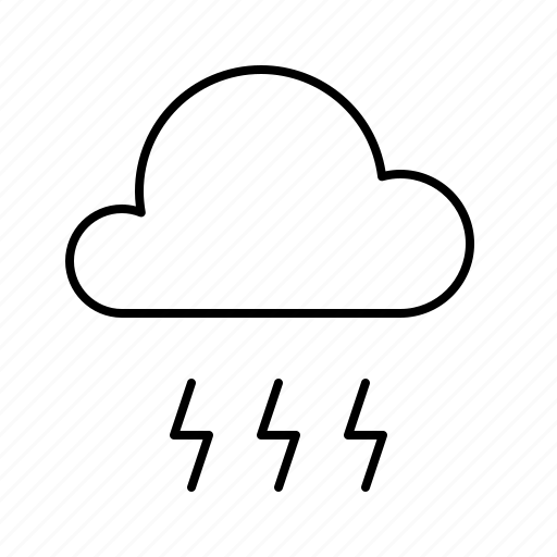 atmosphere, atmospheric, forecast, lightning, strong, thunder, weather icon