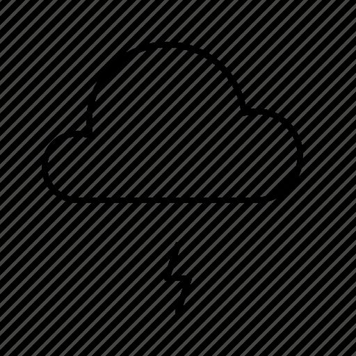 atmosphere, atmospheric, condition, forecast, lightning, thunder, weather icon