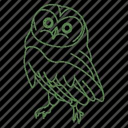 beak, bird, creature, feathers, forest, owl icon