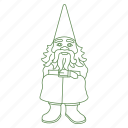 decoration, forest, garden, gnome, statue icon