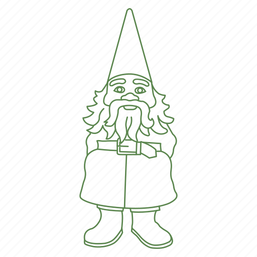decoration, forest, garden, gnome, man, statue icon