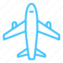 aircraft, plane, transportation icon