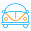 car, transportation, vehicle, vw icon