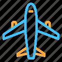 aircraft, plane, transportation, travel icon