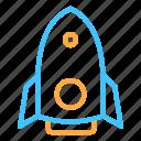 planet, rocket, space, transportation, travel icon