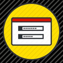 enter, login, password icon