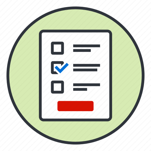 checkbox, document, form, list icon