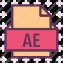 ae, extension, file, folder, tag