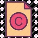 copyright, extension, file, folder, tag