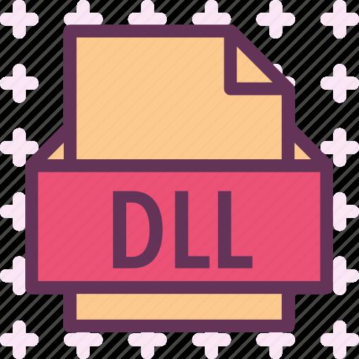 dll, extension, file, folder, tag icon