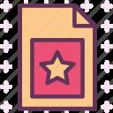 extension, favorite, file, folder, tag