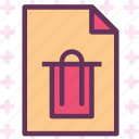 extension, file, filetrash, folder, tag icon