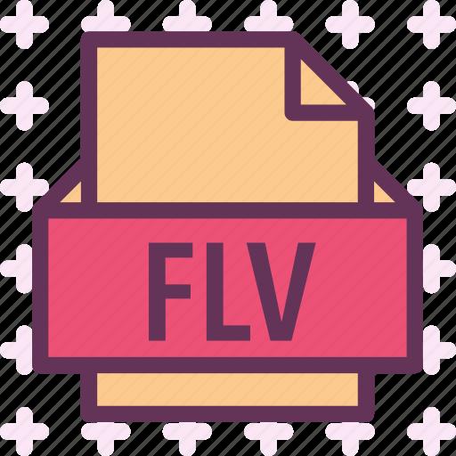 extension, file, flv, folder, tag icon
