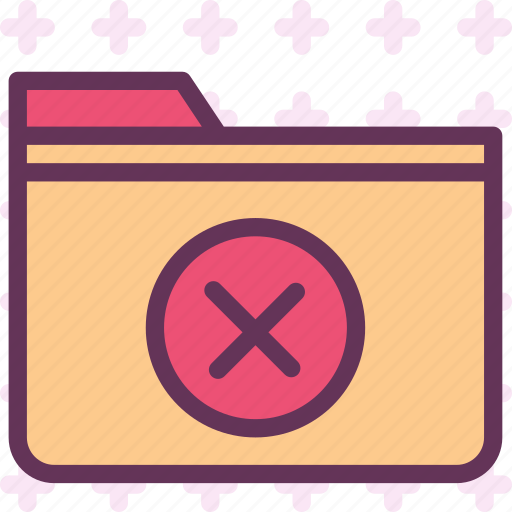 extension, file, folder, foldercancel, tag icon