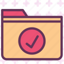 extension, file, folder, folderok, tag icon