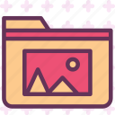 extension, file, folder, folderpic, tag icon