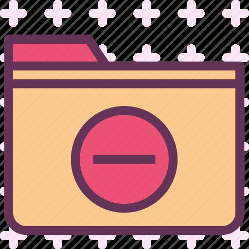 extension, file, folder, folderremove, tag icon