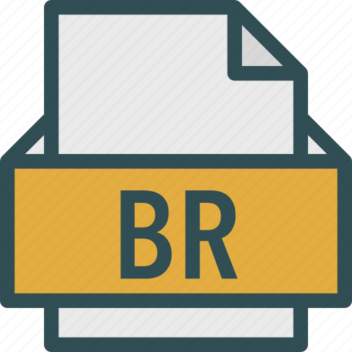 br, extension, file, folder, tag icon