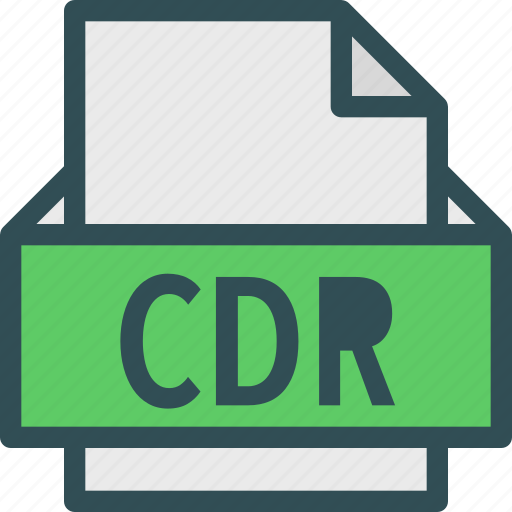 cdr, extension, file, folder, tag icon