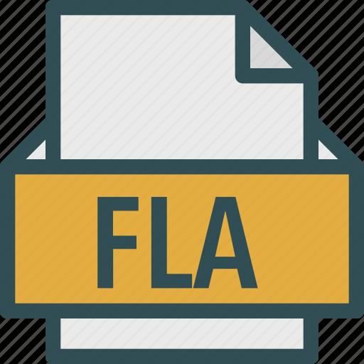 extension, file, fla, folder, tag icon