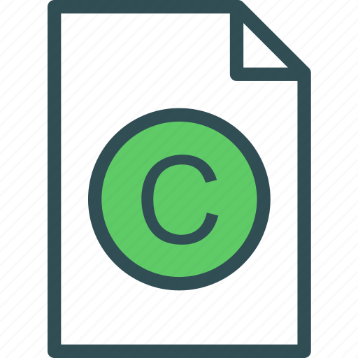 copyright, extension, file, folder, tag icon