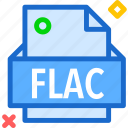 extension, file, flac, folder, tag icon