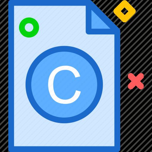 copyright, extension, file, folder, tag icon