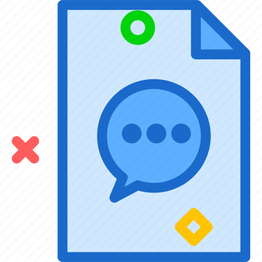 extension, file, filemessage, folder, tag icon
