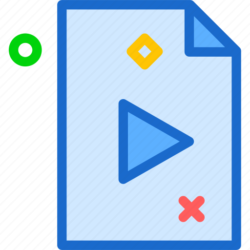 extension, file, fileplay, folder, tag icon