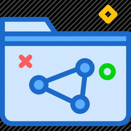 extension, file, folder, folderfiles, tag icon
