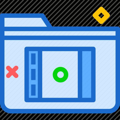 extension, file, folder, foldermovie, tag icon