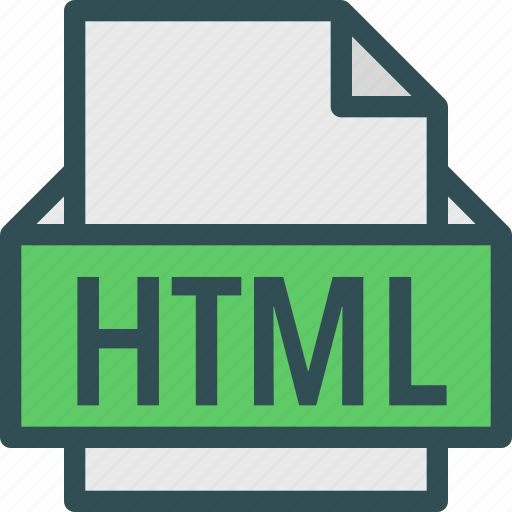 extension, file, folder, html, tag icon