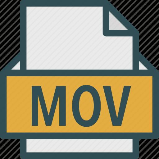 extension, file, folder, mov, tag icon
