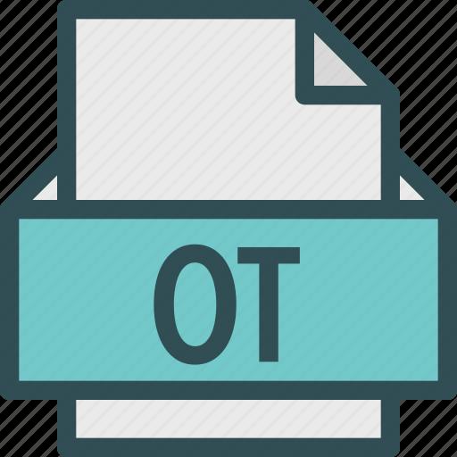 extension, file, folder, ot, tag icon