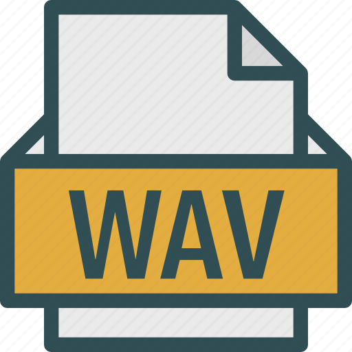 extension, file, folder, tag, wav icon