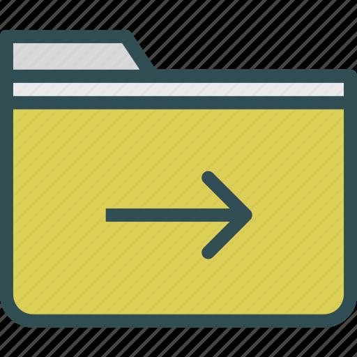 extension, file, folder, folderright, tag icon