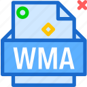 extension, file, folder, tag, wma