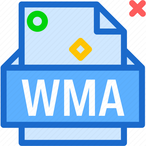 extension, file, folder, tag, wma icon
