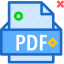 extension, file, folder, pdf, tag icon