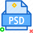extension, file, folder, psd, tag