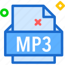 extension, file, folder, mp3, tag icon