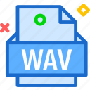 extension, file, folder, tag, wav icon