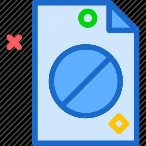 extension, file, folder, forbidenfile, tag icon