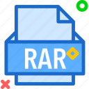extension, file, folder, rar, tag icon