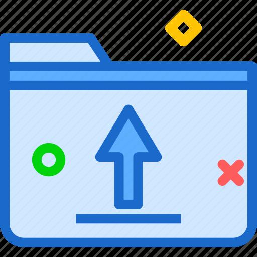 extension, file, folder, folderupload, tag icon