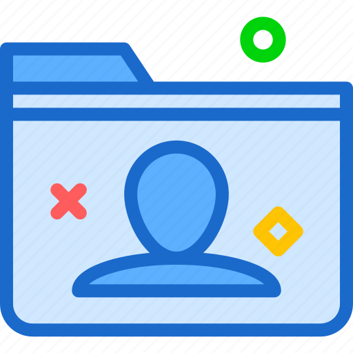 extension, file, folder, folderuser, tag icon