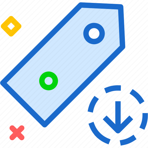 extension, file, folder, tag, tagdownload icon